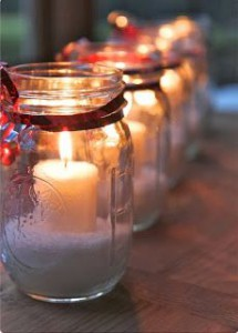 Perfect for your Pinterest: Christmas candle gift -