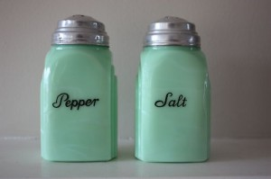 Jadeite Jadite Roman Arch Art Deco Salt Pepper Shakers Near Mint Condition | eBay