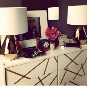 Ikea malm attacked with washi tape. Love it!