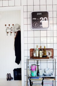 Via Blackbird | Hallway | Eames Hang it All | Karlsson Flip Clock